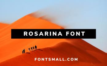 Rosarina font