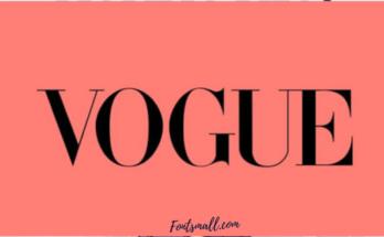 Vogue Font Free Download [Direct Link]